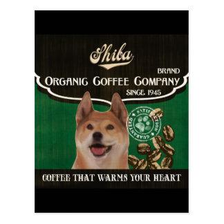 Shiba Marke - Organic Coffee Company Postkarte