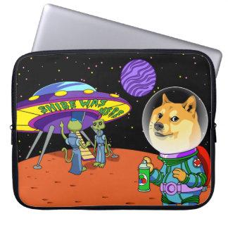 Shibe Doge Astro und der Außerirdische Memes Computer Sleeve Schutzhüllen