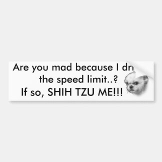 Shih Tzu fährt Autoaufkleber