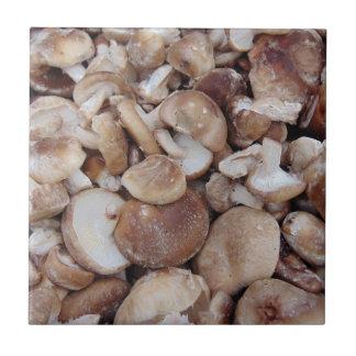 Shiitake-Pilze Kleine Quadratische Fliese