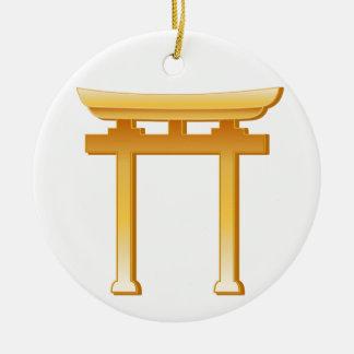 Shintoistisches Symbol Keramik Ornament