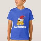 Shirt der Sankt Emoji des Jungen Bah Humbug