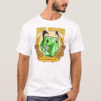 Shirt des Hexe-Spiel-glückliches Logo-D20
