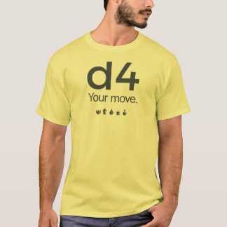 Shirt des Schach-D4: Reihe 1