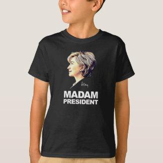 """Shirt Hillary-Clinton """"Frau-Präsident"""" Kinder"""