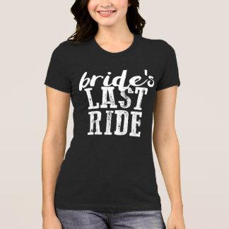 Shirt-Land Bachelorette der Braut dunkles letzte T-Shirt