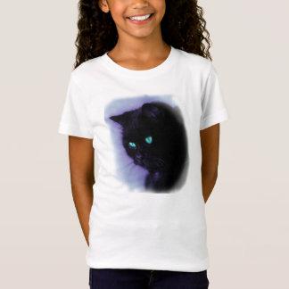 Shirt mit blau-violettem Katzenmotiv