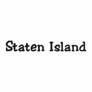 Shirt STATEN ISLAND New York City NY KUNDENGERECHT