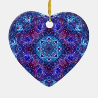 Shiva Blau Keramik Herz-Ornament
