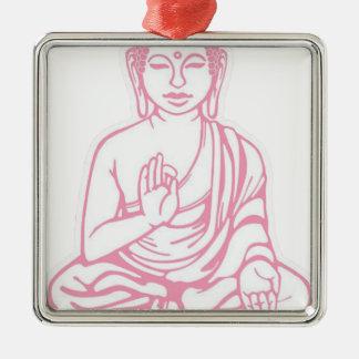 Shiva ließ es gehen quadratisches silberfarbenes ornament
