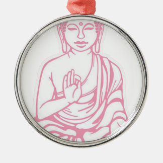 Shiva ließ es gehen rundes silberfarbenes ornament