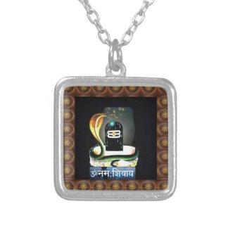 SHIVA LINGA SCHLANGE heiliges Skript - Anzeige Halskette Mit Quadratischem Anhänger