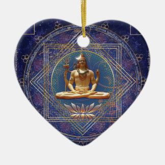 Shiva- Mahamrityunjaya-Tryambakam Keramik Herz-Ornament