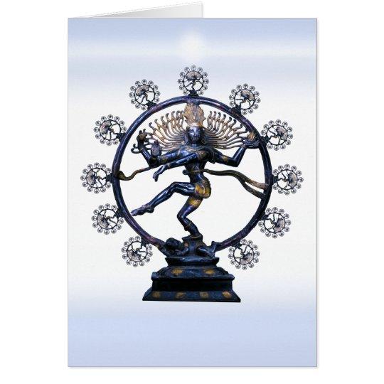 Shiva Nataraja, ein fabelhaftes Fraktal Grußkarte