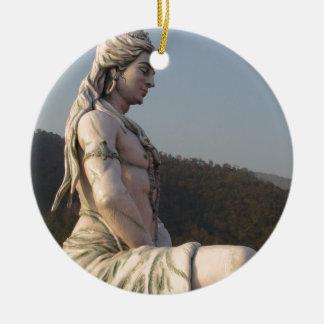 Shiva Rundes Keramik Ornament
