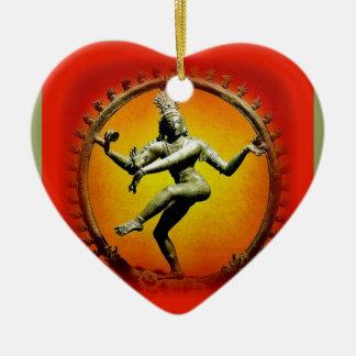 Shiva Tanzen im Feuer durch Sharles Keramik Herz-Ornament