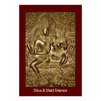 Shiva u. Shakti Umarmung Poster