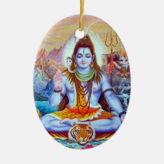 Shiva Verzierung Ovales Keramik Ornament