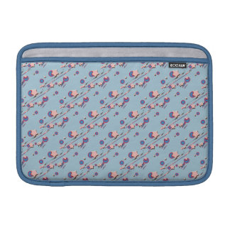 Shooting Stars und Kometen-hellblaue Pastellhülse MacBook Sleeve