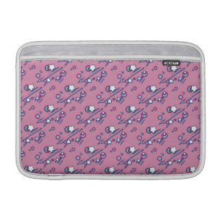 Shooting Stars und Kometen-Pastellrosa-Hülse MacBook Sleeve