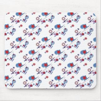 Shooting Stars und Kometen-rote weiße blaue Mousepads