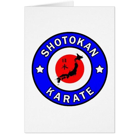 Shotokan Karate Grußkarte