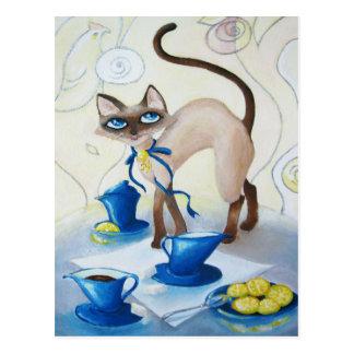 Siamesisch - schöne Kunst Postkarte