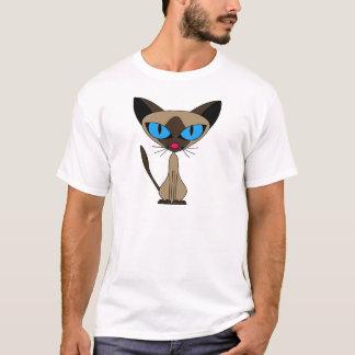 Siamesisch wenn Sie bitte - Cartoon-siamesische T-Shirt