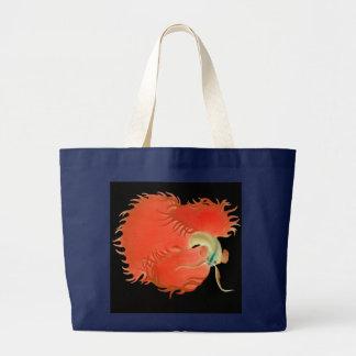 Siamesische kämpfende Fische Betta Taschen-Tasche Jumbo Stoffbeutel