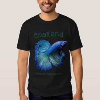 Siamesische kämpfende Fische Thailands Hemd