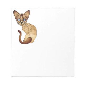 """Siamesische Katze 5,5"""" x 6"""" Notizblock - 40 Seiten"""