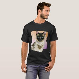 Siamesische Katzen-elegante Aquarell-Malerei T-Shirt
