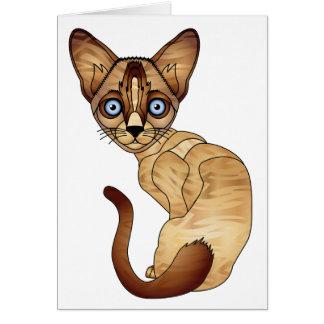Siamesische Katzen-Gruß-Karte Grußkarte