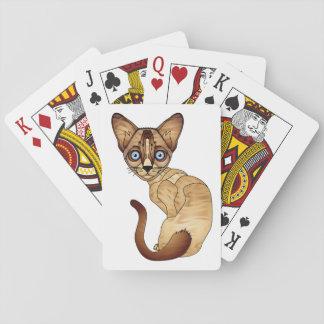 Siamesische Katzen-Karten Spielkarte
