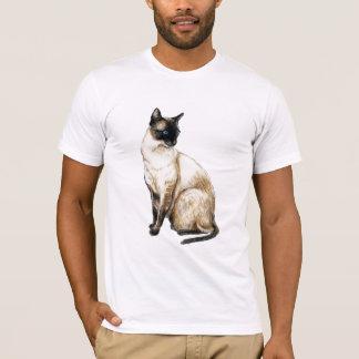 """Siamesische Katzen-"" Kunst-Shirt T-Shirt"