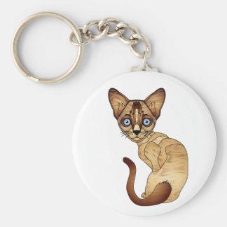 Siamesische Katzen-Schlüsselkette Standard Runder Schlüsselanhänger
