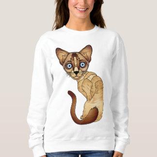 Siamesische Katzen-Sweatshirt Sweatshirt