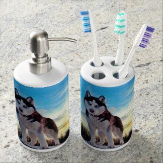 Sibirischer Husky Zahnbürstenhalter