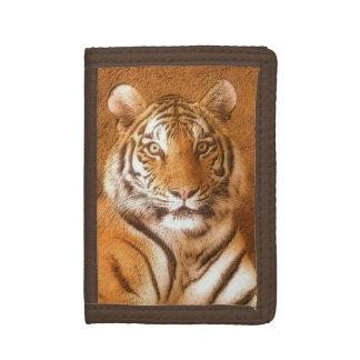 Sibirischer Tiger-Porträt-Brown-Nylon-Geldbörse