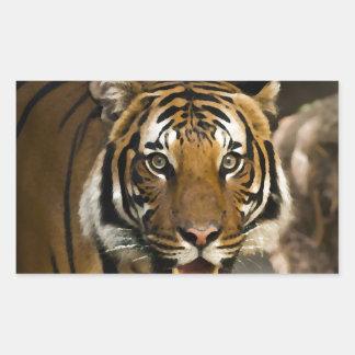 Sibirischer Tiger Rechteckiger Aufkleber