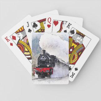 Sich fortbewegender Zug-Spielkarten Spielkarten