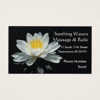 Sich hin- und herbewegende Lotos-Blume Visitenkarte