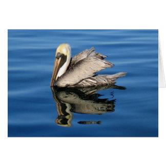 Sich hin- und herbewegender Pelikan Karte