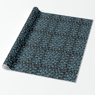 Sich hin- und herbewegendes blaues geschenkpapier
