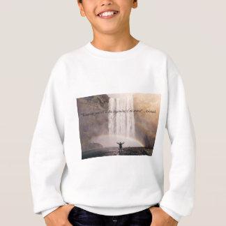 Sich kennen Zitat - KinderSweatshirt Sweatshirt
