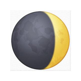 Sichelförmigen Mond einwachsen - Emoji Leinwanddruck
