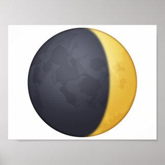 Sichelförmigen Mond einwachsen - Emoji Poster