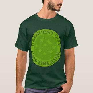 Sichelförmiger Stadt-Wasserzähler-Deckel T-Shirt