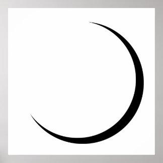 Sichelförmiges Mond-Plakat Poster