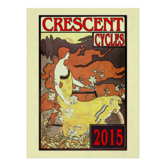 Sichelförmiges Zyklus-Rennen 2015 Poster